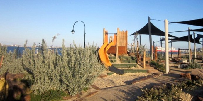 An array of play equipment can be used at Plum Garland playground
